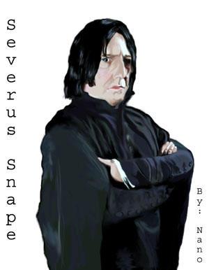 Alan Rickman as Severus Snape by Nanobear
