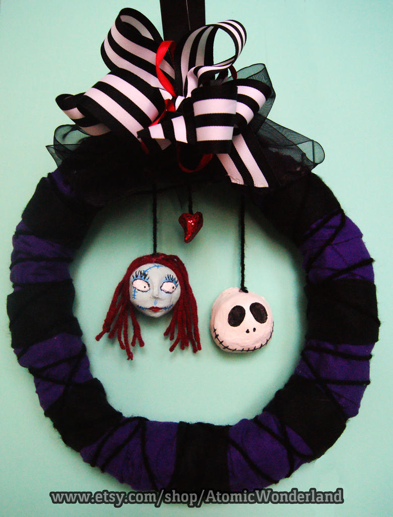 Nightmare Before Christmas Wreath by RadioactiveArts on DeviantArt