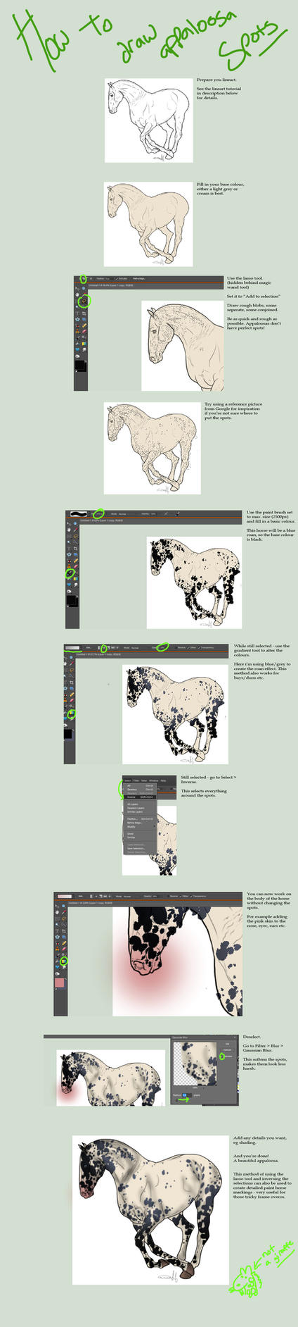 Appaloosa Spots Tutorial by RainbowFountains