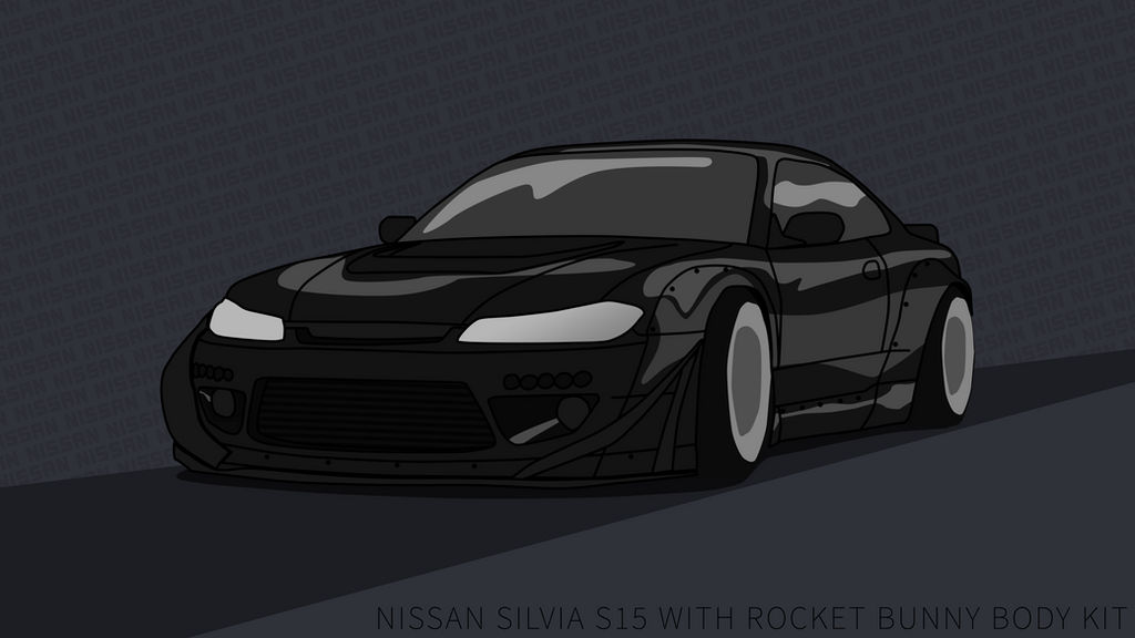 Nissan Silvia S15 Wallpaper 4k Rocket Bunny Black By
