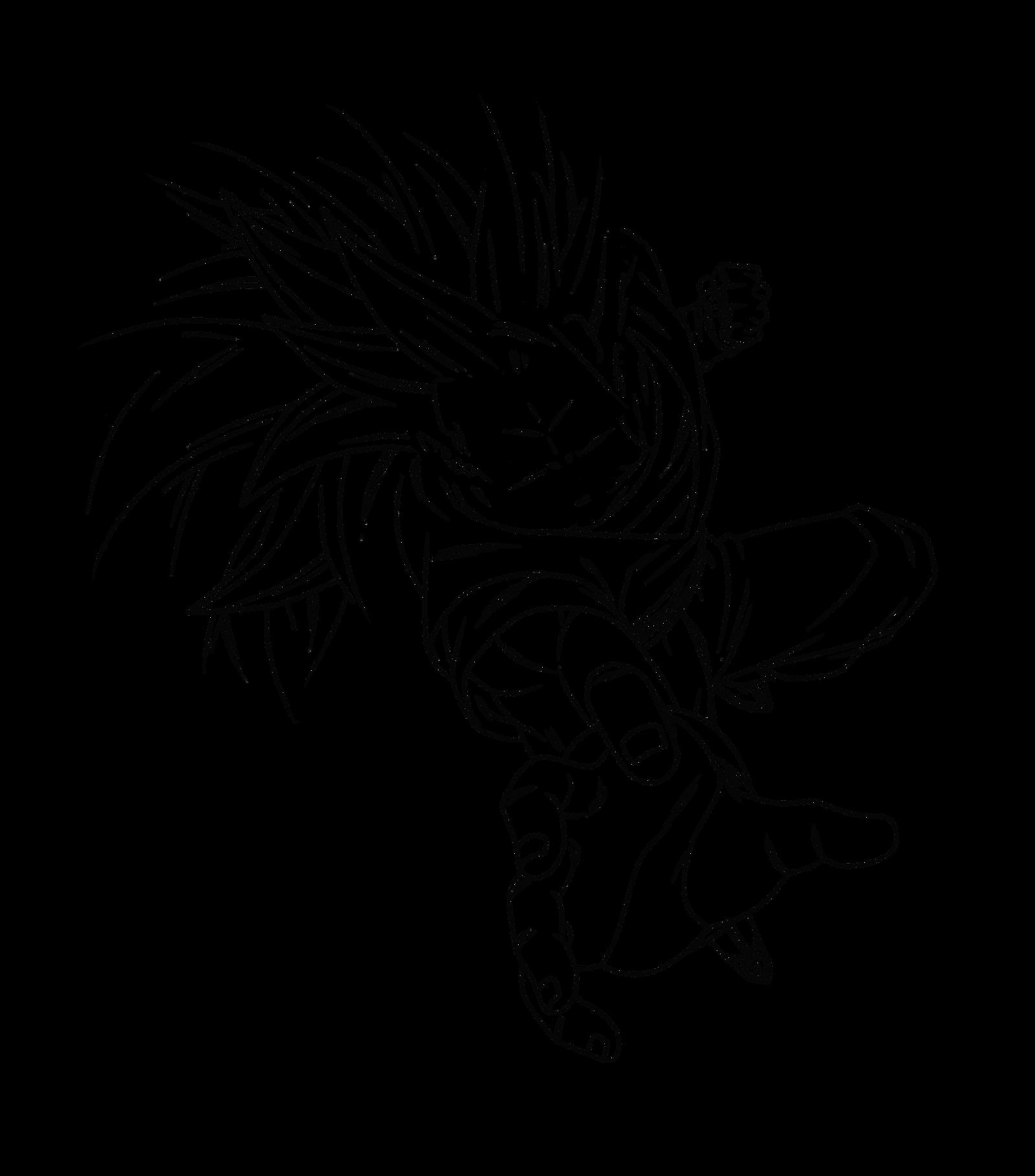 Vistoso Dbz Goku Ssj4 Para Colorear Adorno - Dibujos Para Colorear ...