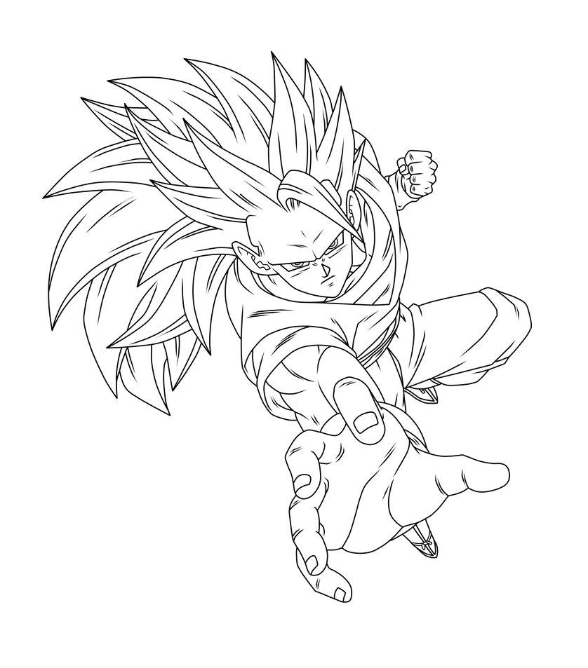 Goku SSJ3 Lineart By DBZArtist94 On DeviantArt