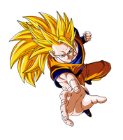 Goku SSJ3 by DBZArtist94