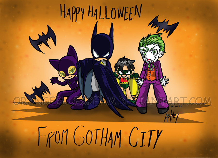 Happy Halloween from Gotham by OrangeBlueCream on DeviantArt