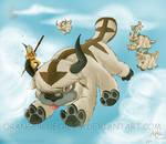 Herding through the sky