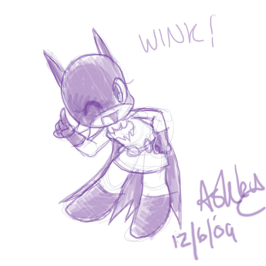 Batgirl sketchie by OrangeBlueCream