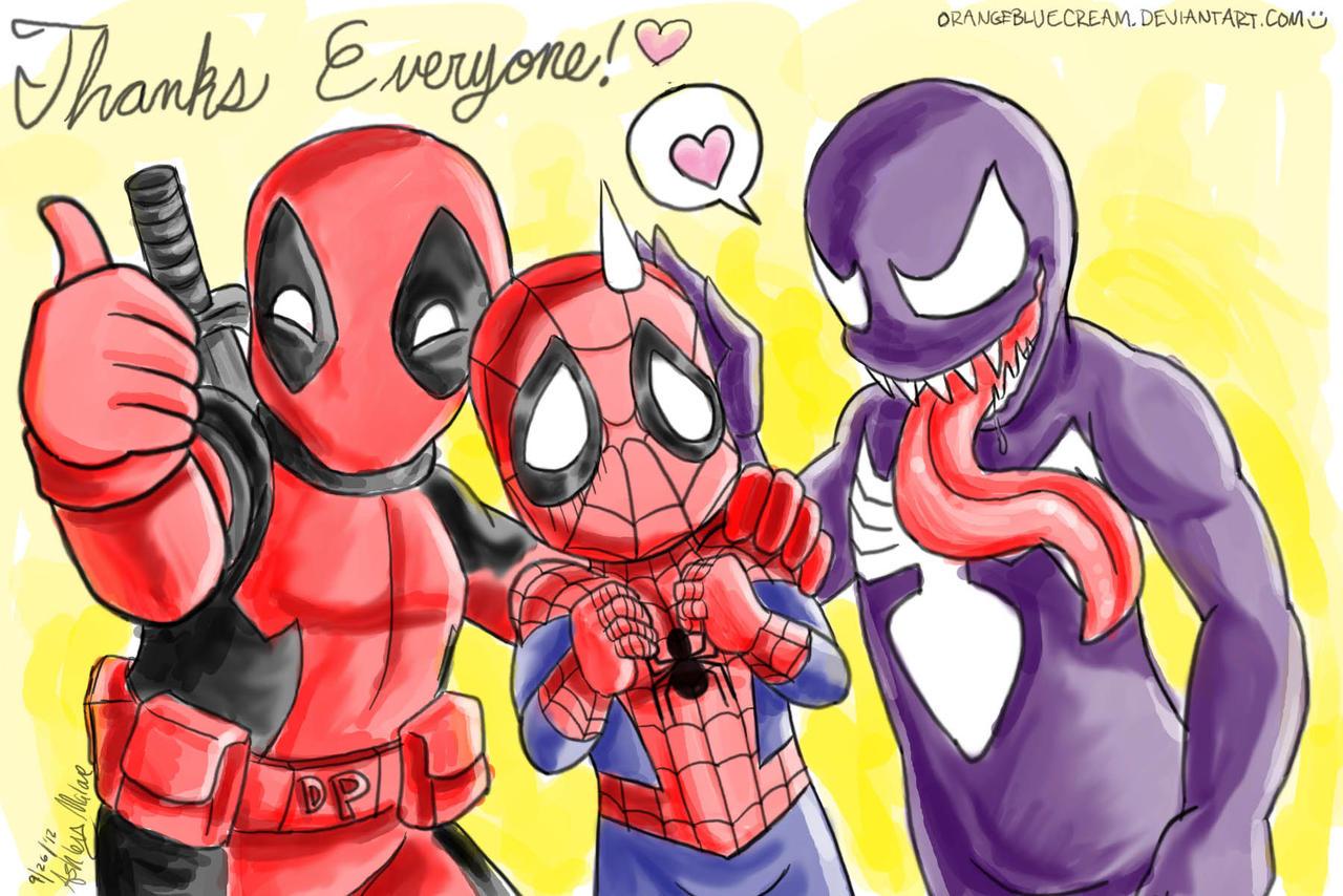 Deadpool, spidey, and Venom say thanks!