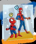 Spiderchibi meets Spider-man