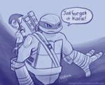 Leo and Karai Tumblr sketch