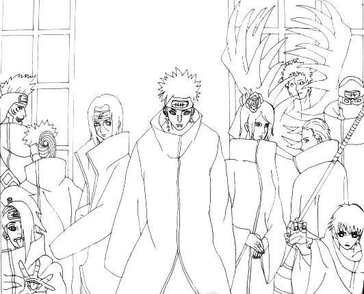 Lineart Naruto Akatsuki By Thoucandsunny On Deviantart