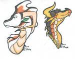 OTA Desert Themed Dragons 1/2