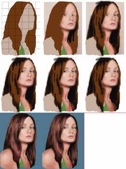 Portrait in Photoshop
