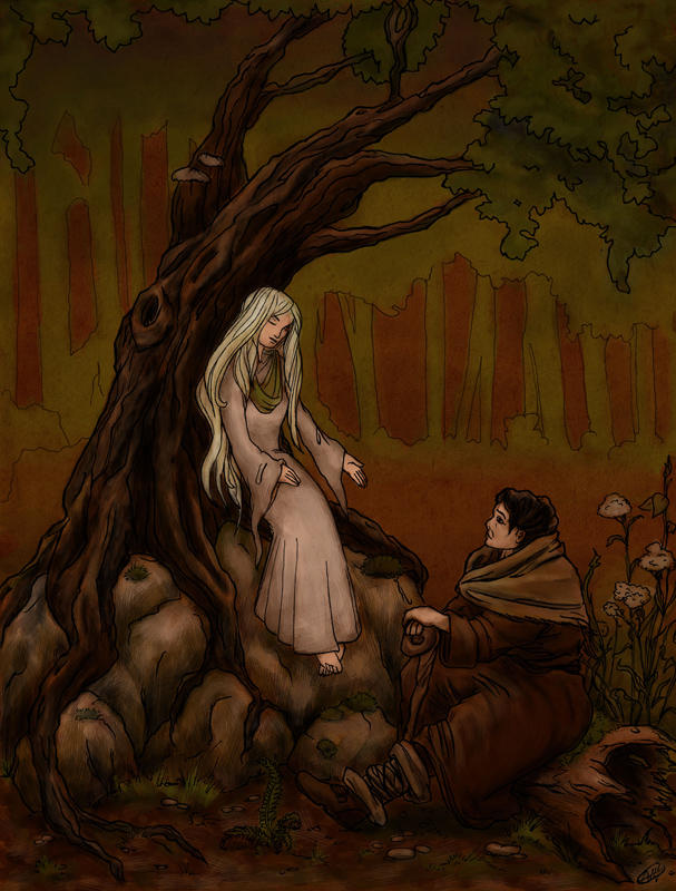 The Woman in the Woods by spiegelscherben