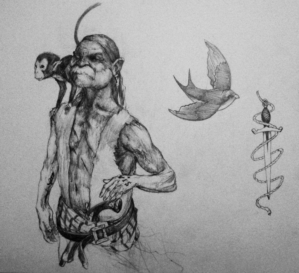 Pirate-bluebird by viktor-toth