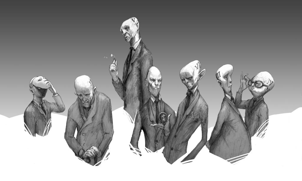 Grey Men by viktor-toth