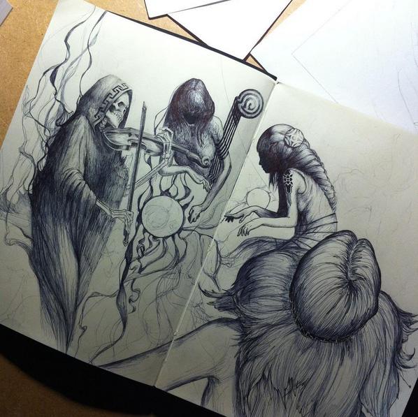 sketchbook page by viktor-toth