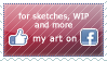 Facebook Art Page Stamp by HonHon