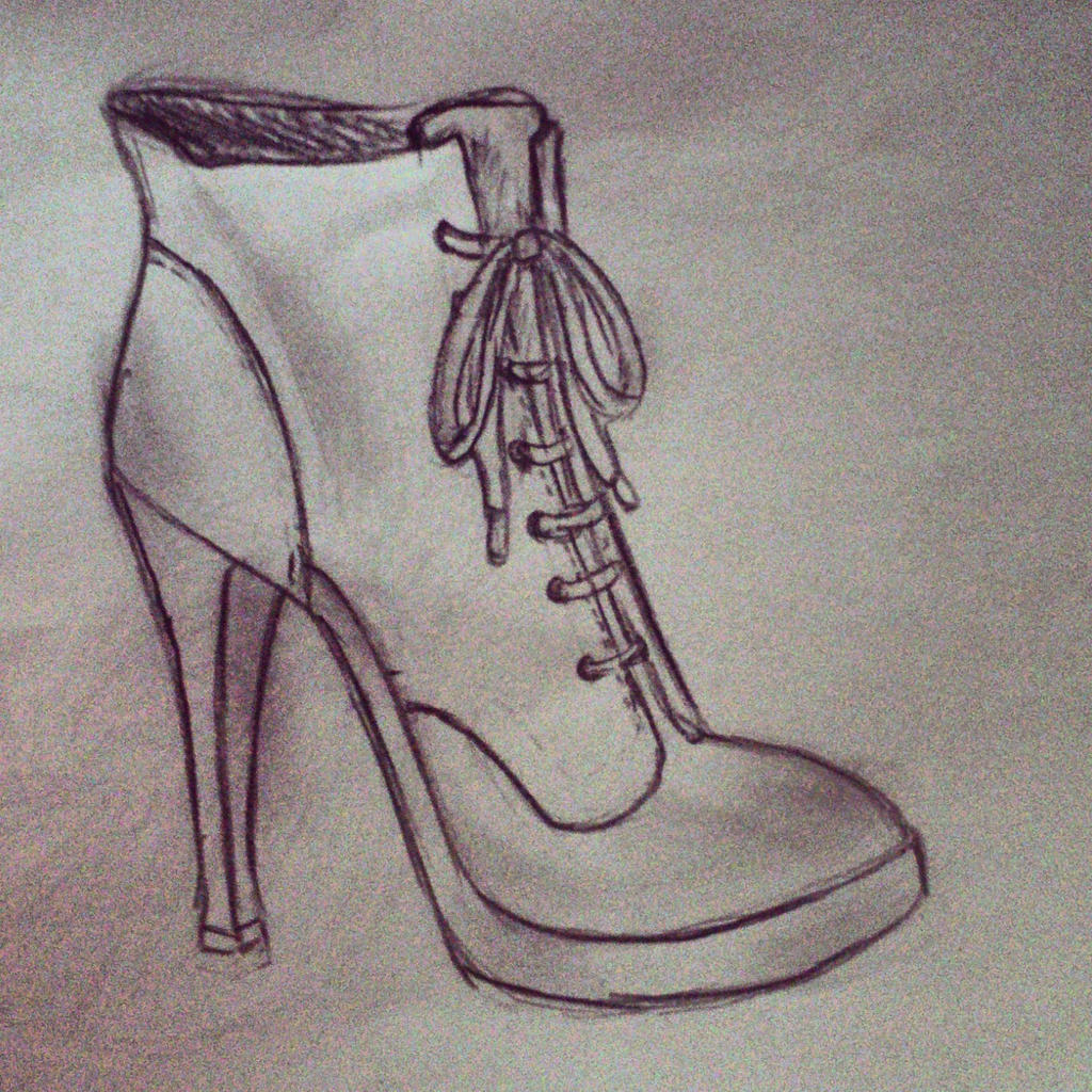 how to draw boots with heels
