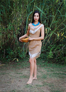 Picking Ears of Corn - Pocahontas