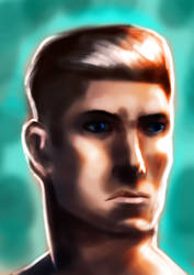 Ryan Archer / Fire-Arm Portrait by yupjaylovescomics