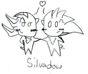 SilvAdow Chibis by Sonic-Yaoi-Fanclub