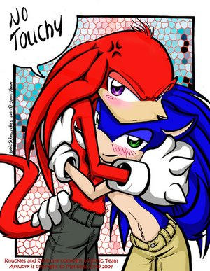 "Our Mascot ""No touchy"" by Sonic-Yaoi-Fanclub"