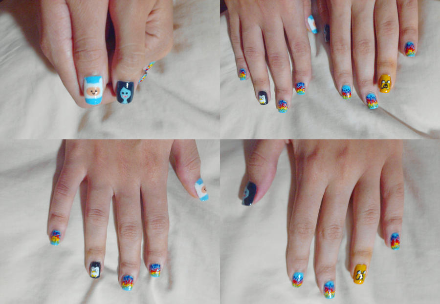 Adventure Time Nail Art by karidcha