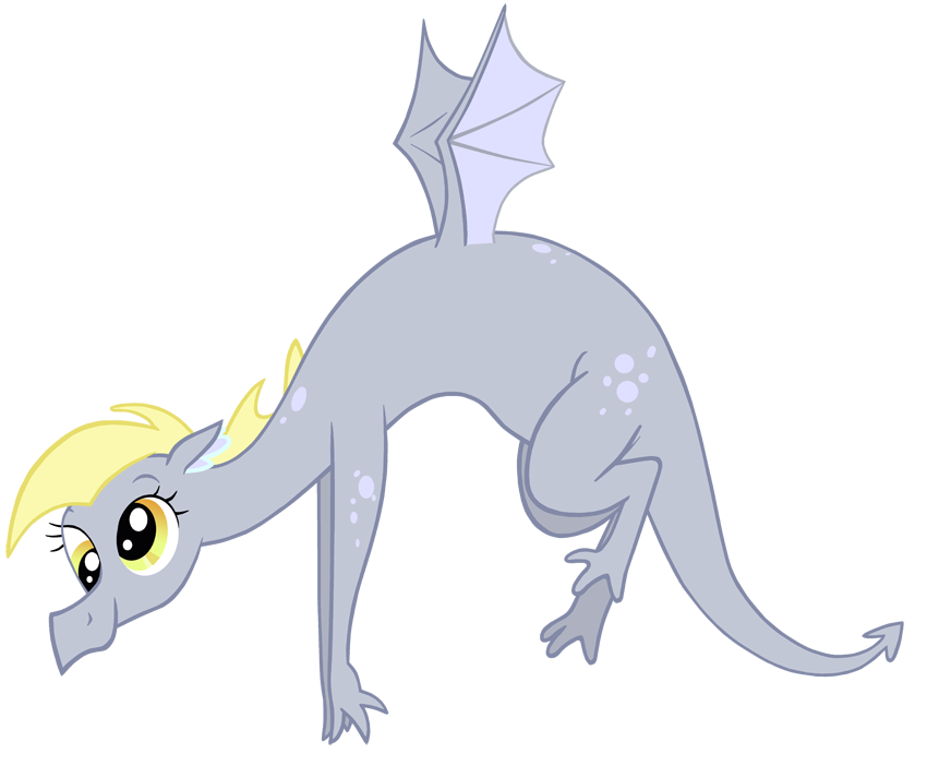 Dragonified Derpy by QueenCold