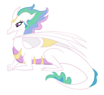Dragonified Princess Celestia