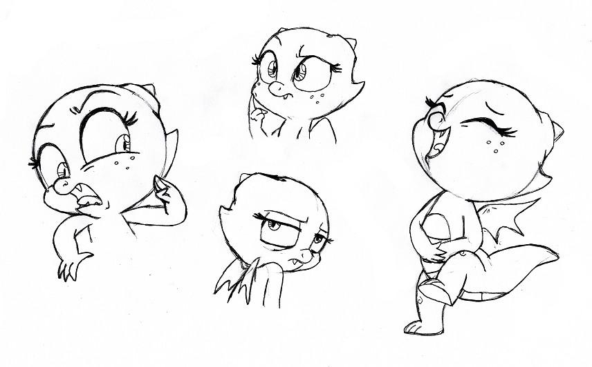 Jade Sketchdump by QueenCold