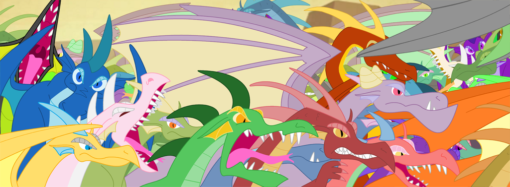 Dragon mosh pit by QueenCold