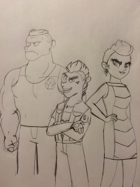 Human Garble and his parents by QueenCold