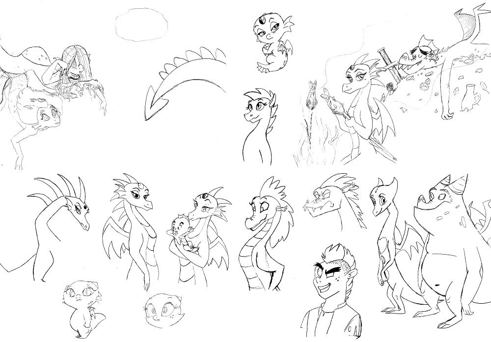 Sketchdump 5 by QueenCold