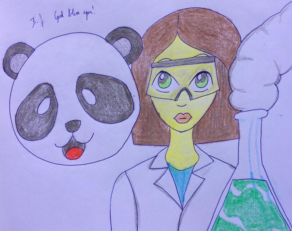 Emoji Panda and Scientist by guitarseer