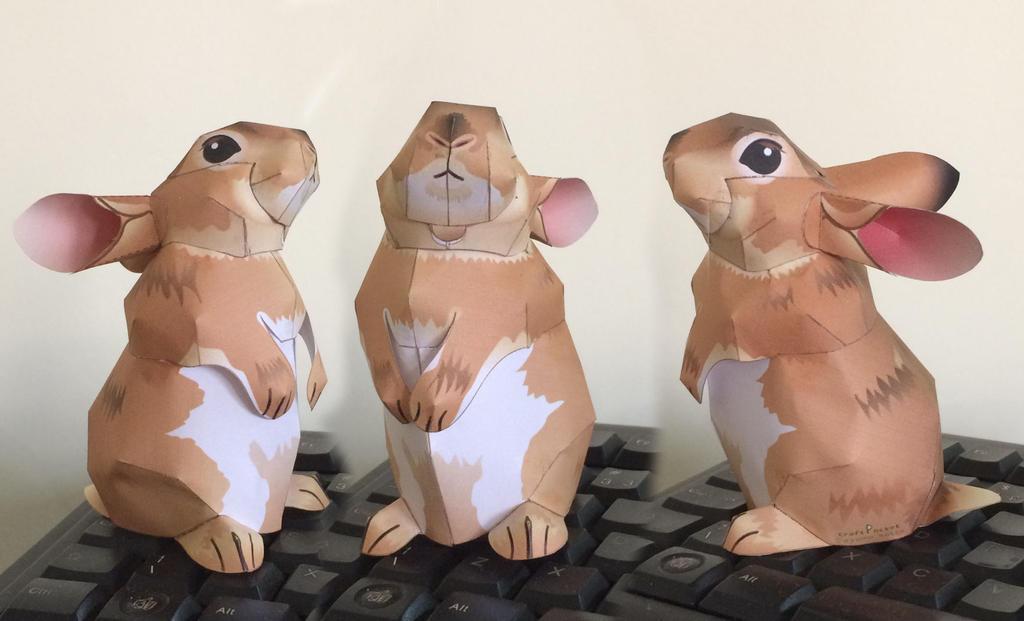 Rabbit Mini Wrex Canon Papercraft by guitarseer