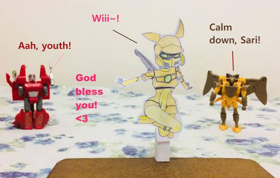 Transformers Animated Sari Papercraft