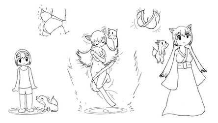 [AP] Fox Shrine - Regular Foxgirl Miko by MagicalTF