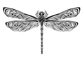 Dragonfly Tattoo 1 by Guernic