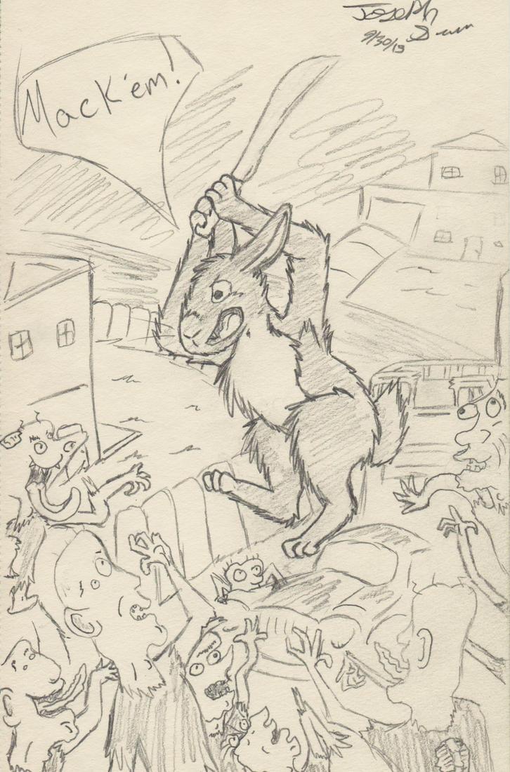 Crazy Rabbit by Foxstan-the-Otterfox