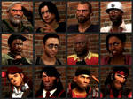 The Faces Of Left 4 Dead
