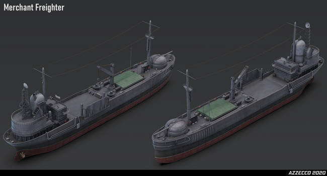 Merchant Freighter for Ironswift Tales by Azzecco