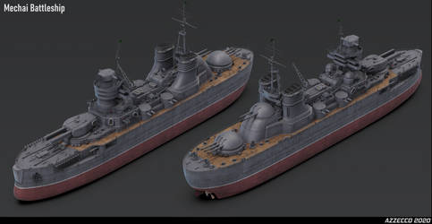 Mechai Battleship for Ironswift Tales by Azzecco