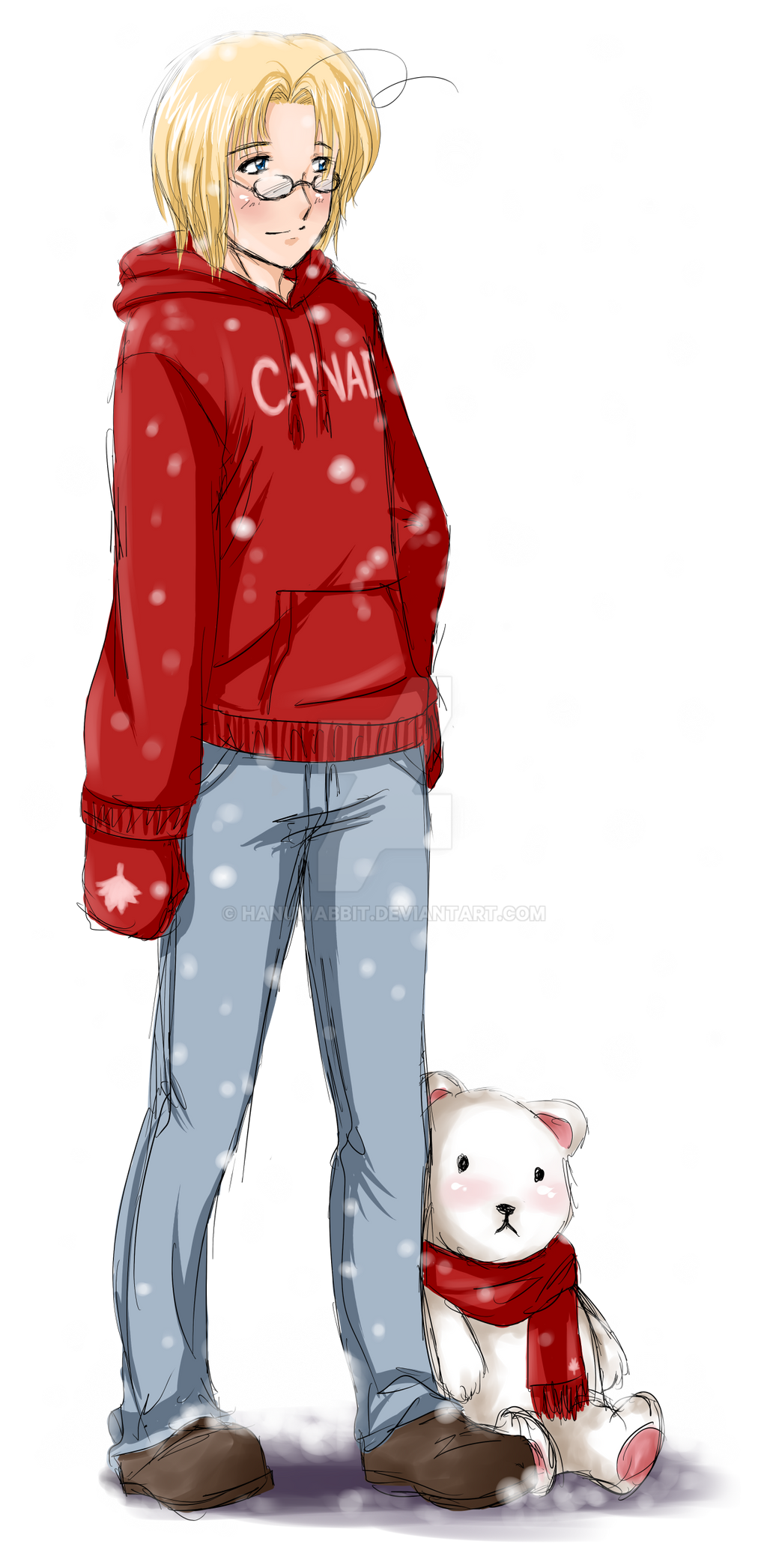 APH: Canada and snow by HanuWabbit
