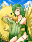 FFIV: Rydia and Chocobo