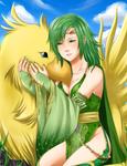 FFIV: Rydia and Chocobo