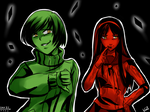 P4AU Day 22 - Shadow Chie and Yukiko