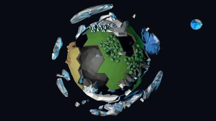 Low Poly Terran Planet