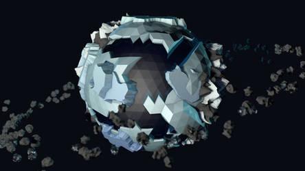 Low Poly Glacier Planet