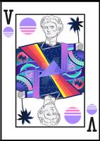 Vaporwave Playing Card