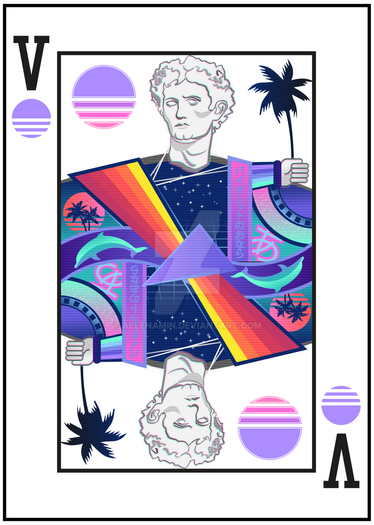 Vaporwave Playing Card by allenamin